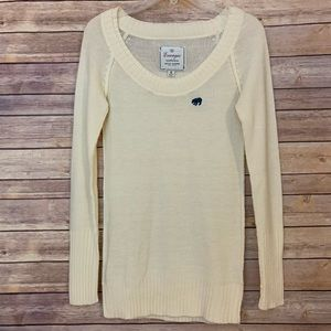 Energie slim long sweater with double collar